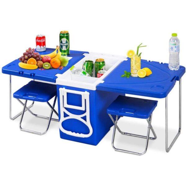 צידנית 28 ליטר מתקפלת + שולחן + 2 כיסאות